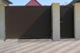 Откатные ворота на опорном ролике с отдельной калиткой