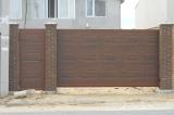 Ворота консольные с отдельной калиткой
