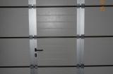 Калитка в секционных воротах - вид изнутри