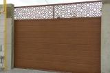 Откатные ворота на опорном ролике вид снаружи