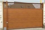 Откатные ворота с орнаментом высотой 3 метра.