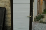 Распашные ворота - электрозамок и калитка