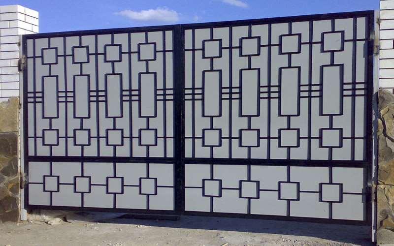 Сварные металлические ворота и калитки
