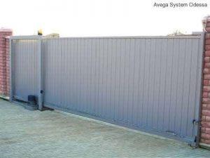 Откатные ворота с автоматикой Nice